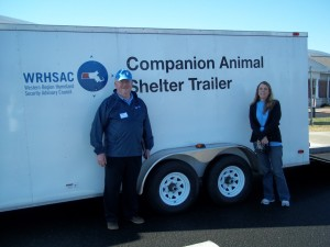 Disaster Animal Response Team equipment trailer